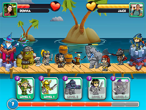Mighty heroes battle: Strategy card game für Android