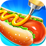 Street food stand cooking game icono