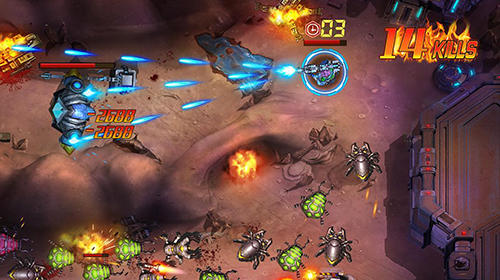 d'action Infinite fire: Swarm assault pour smartphone