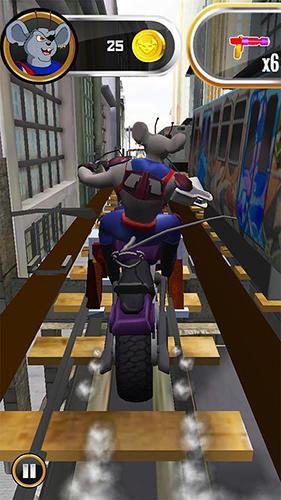 Spiele basierend auf Zeichentrickfilmen Biker mice from Mars auf Deutsch