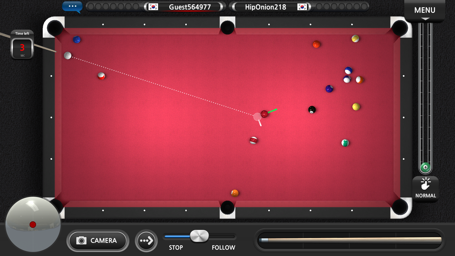 World Championship Billiards screenshot 1