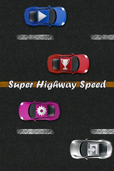 Super highway speed: Car racing icono