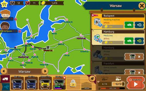 Simulation games Logis tycoon: Evolution for smartphone