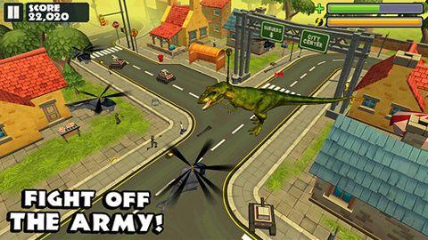 Screenshot Jurassic Rampage auf dem iPhone