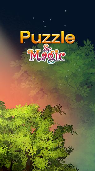 Puzzle and magic icon