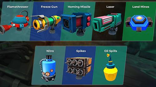 Rennspiele Clash for speed: Xtreme combat racing für das Smartphone
