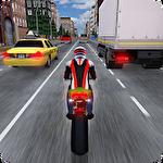 Race the traffic moto Symbol
