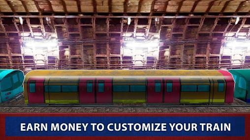 Simulation London subway train sim 2017 für das Smartphone