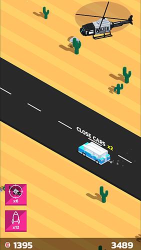 Arcade-Spiele Boom road: 3d drive and shoot für das Smartphone
