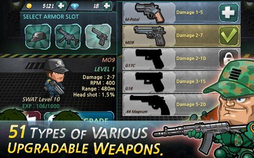 SWAT and zombies: Runner для Android
