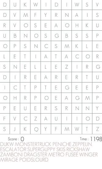 Word search auf Deutsch