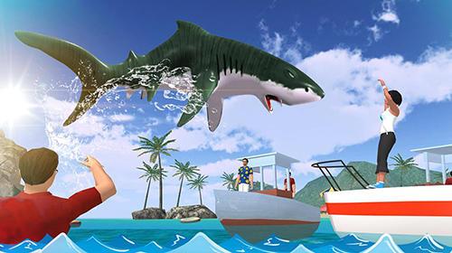 Angry shark 2017: Simulator game auf Deutsch