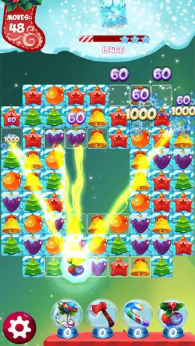Arcade Christmas match 3: Puzzle game für das Smartphone