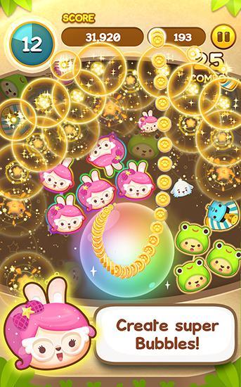 Arcade-Spiele Puchi puchi pop: Puzzle game für das Smartphone