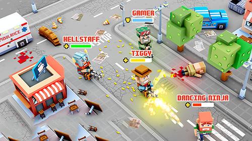 Actionspiele Pixel strike online für das Smartphone