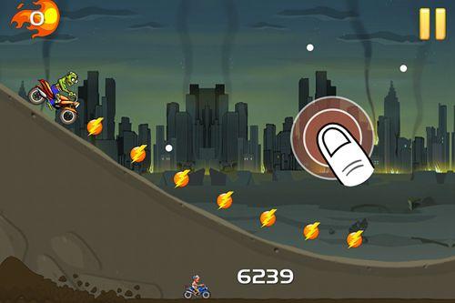 Screenshot Wütende Zombies: Motorradrennen auf dem iPhone
