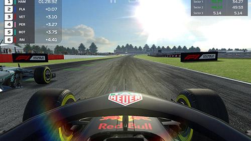 Screenshot F1 Mobiles Rennen auf dem iPhone