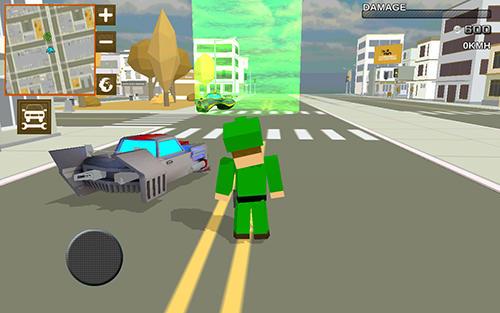Pixel Blocky hover car: City heroes auf Deutsch