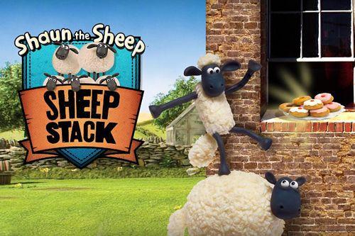 logo Shaun das Schaf: Schaf Stapel
