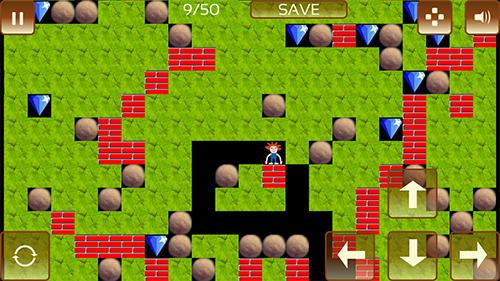 The gem hunter: A classic rocks and diamonds game auf Deutsch