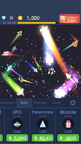 Arcade Idle rocket: Aircraft evolution and space battle für das Smartphone