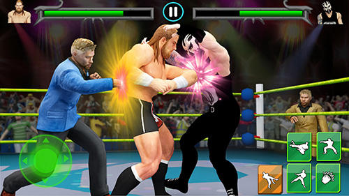 Men wrestling mania: Pro wrestler cheating manager for Android