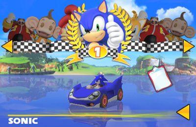 Les Courses de Sonic et de tous les Stars de SEGA en russe