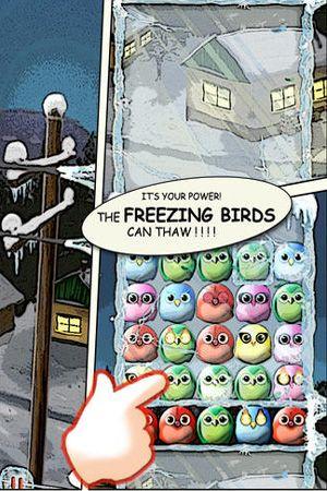 Captura de tela Aves congeladas no iPhone