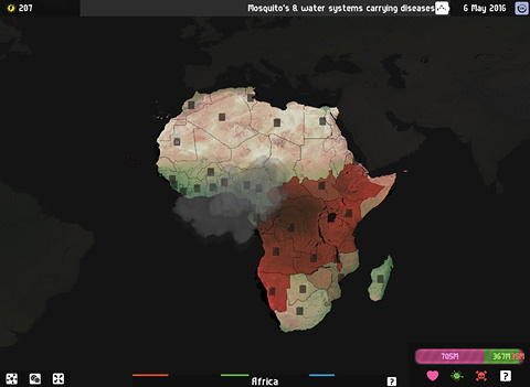 Screenshot Universe Pandemic: Erdplage auf dem iPhone