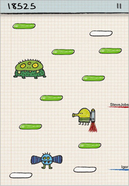 Doodle Jump in Russian