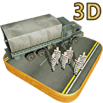 3D prison transporter icon