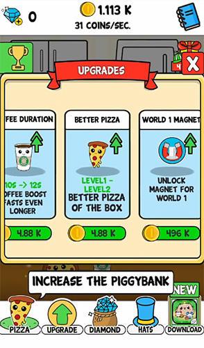 Arcade Pizza evolution: Flip clicker für das Smartphone