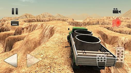 Simulation Truck driver: Crazy road 2 für das Smartphone