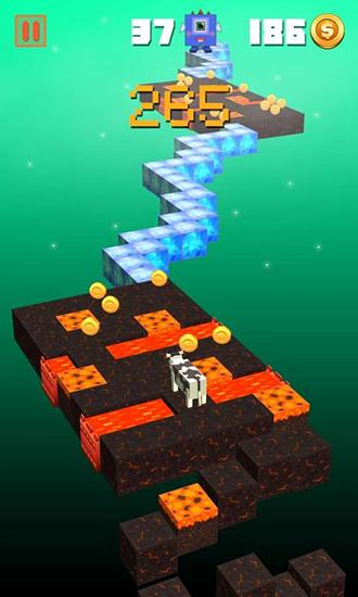 Pixel art games Zigzag crossing in English
