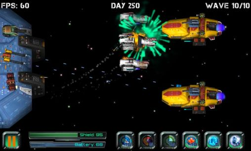 Strategy games Space station defender 3D for smartphone