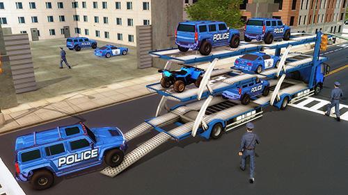 US police Hummer car quad bike transport für Android