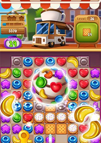 Три в ряд Food pop: New puzzle gravity world. Food burst 2 на русском языке