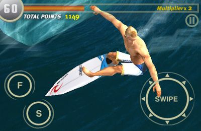 Le Surfing avec les Vagues en russe