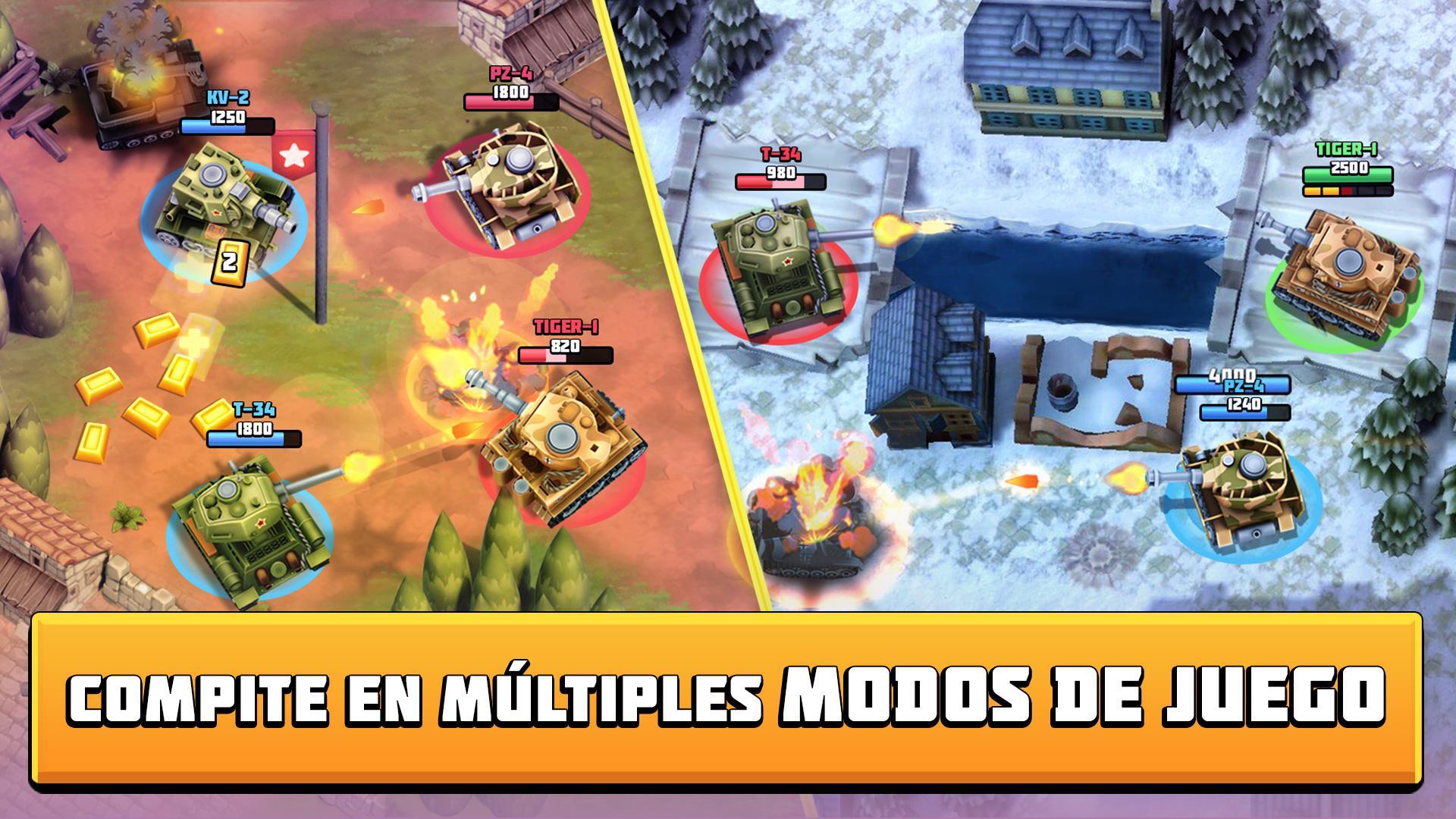 Tanks Brawl : Fun PvP Battles! captura de pantalla 1