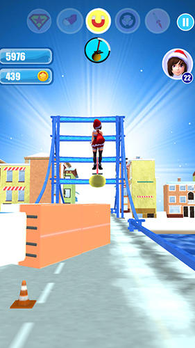Santa girl run: Xmas and adventures для Android