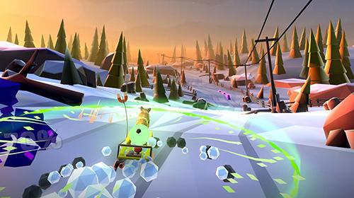 Screenshot Animal adventure: Downhill rush on iPhone