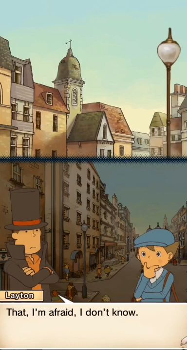 Layton: Diabolical Box in HD screenshot 1