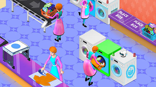 My laundry shop manager: Dirty clothes washing Screenshot