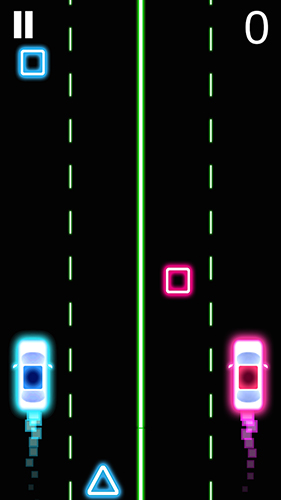 Reaktionsspiele Neon: 2 Rasende Autos auf Deutsch