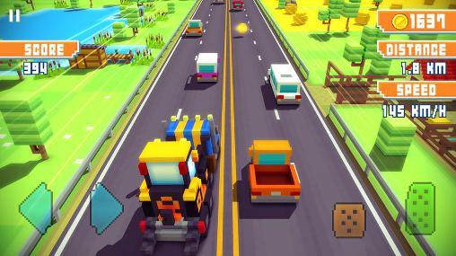 Pixel Blocky highway auf Deutsch