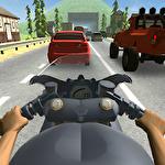 Riding in traffic online Symbol