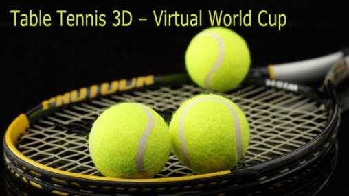 логотип Настольный теннис 3D - Виртуальный чемпионат мира