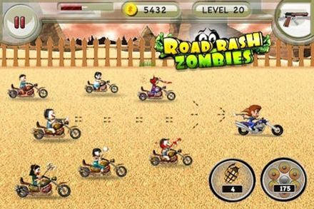 Road rash zombies in Russian