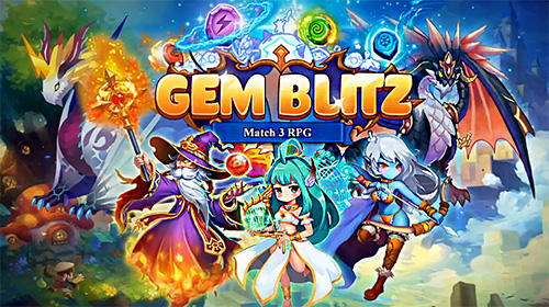 Gem blitz: Match 3 RPG captura de pantalla 1