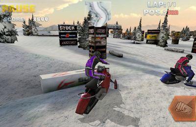 Das Snowbike-Rennen für iPhone